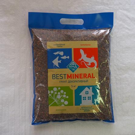 Best Mineral Гравий полуокатанный, фракция 2-5 мм, 5 кг фото