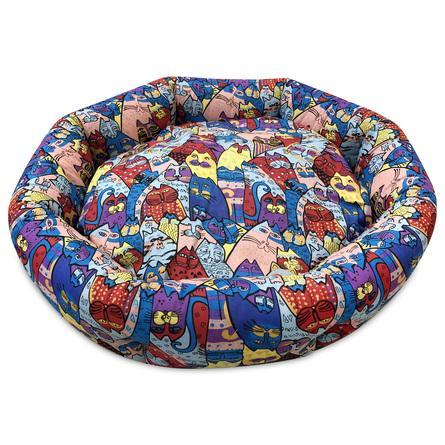 CLP Лежанка круглая Цветные коты (бязь) S, 45*45*12см фото