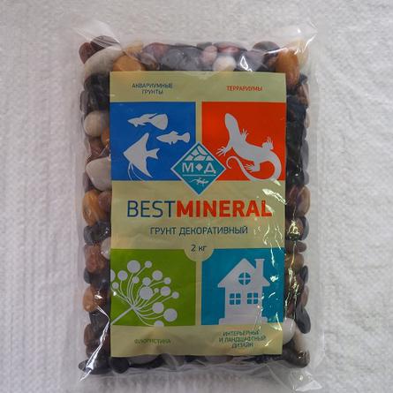 Best Mineral Галька полированная микс, фракция 10-15 мм, 2 кг