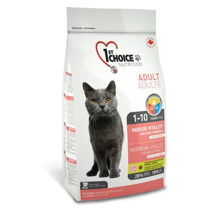 1st Choice Vitality Сухой корм для взрослых домашних кошек (с цыпленком), 10 кг фото