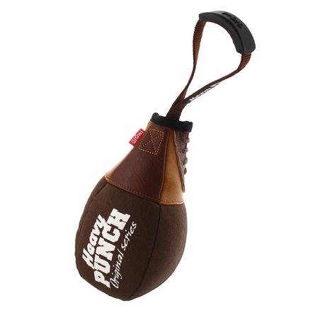 Gigwi Heavy Punch Игрушка для собак Боксерская груша с пищалкой и ручкой, коричневая