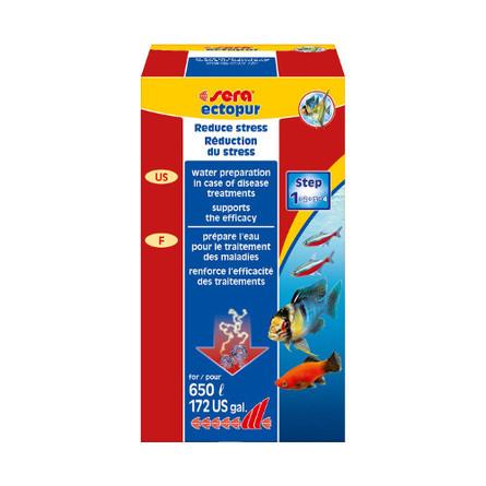 Sera Ectopur Профилактическое средство против грибковых заболеваний и эктопаразитов в пресной и морской воде для рыб, 100 мл