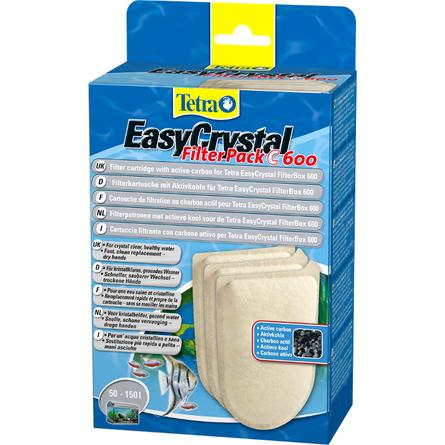 Tetra EasyCristal 600 Губка с активированным углем для внутренних фильтров, 3 шт