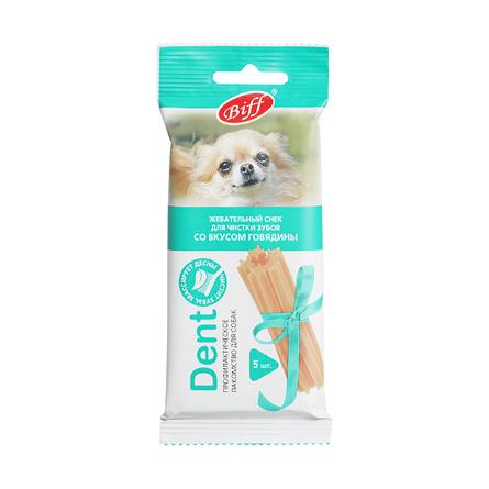 Biff Dent Жевательный снек для собак мелких пород со вкусом говядина, 35 гр