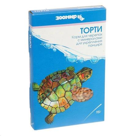 Торти Универсальный корм для декоративных аквариумных и террариумных животных, смесь, 15 гр