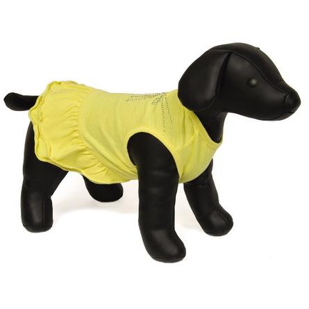 Dezzie Платье для собак, размер 35 см, желтое фото