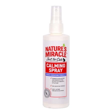 Купить Nature's Miracle JFC No Stress Calming Spray Успокаивающее средство для кошек, 236 мл, Nature's Miracle