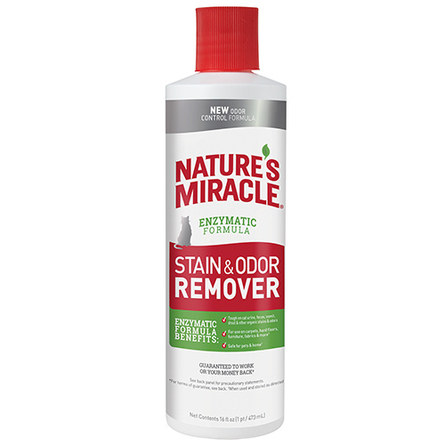 Nature's Miracle Cat Stain & Odor Remover Уничтожитель пятен и запаха для кошек, 473 мл