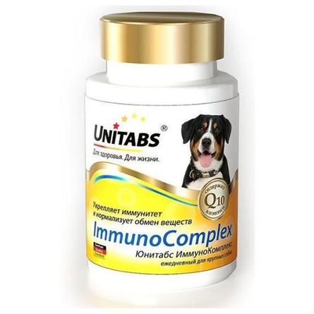 UNITABS ImmunoComplex Витамины для взрослых собак крупных пород для поддержки иммунитета, 100 таблеток, 200 гр фото