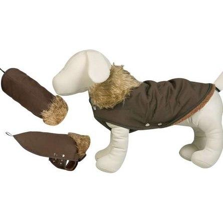 Flamingo GSTAAD Попона для собак, коричневая, замша фото