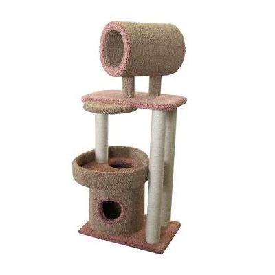 Купить Пушок Когтеточка-комплекс Округлый с трубой для кошек, сезаль