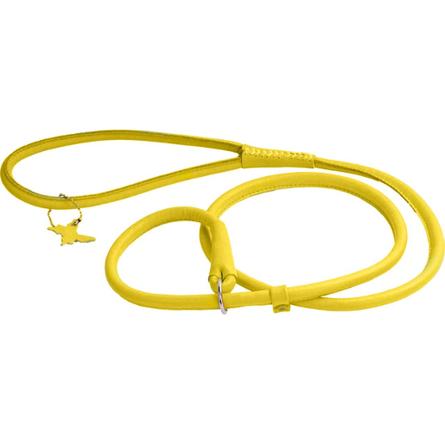 Купить Collar Glamour Поводок-удавка круглый для собак, ширина 8 мм, длина 135 см, желтый