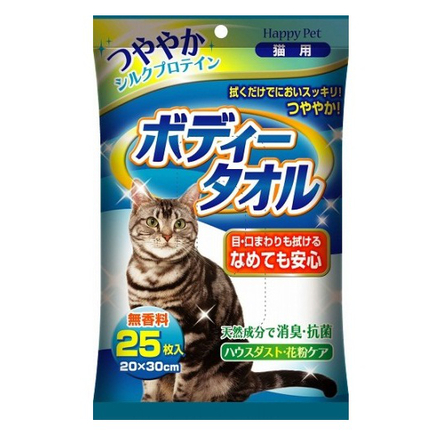 Happy Pet Влажные полотенца для кошек для базового ухода, 25 шт