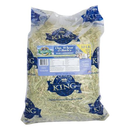 Alfalfa King Луговое сено для грызунов (c зернами овса, пшеницы и ячменя), 4,54 кг