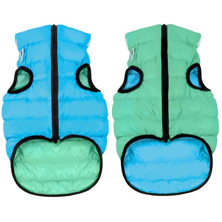 Collar AiryVest Lumi Куртка двухсторонняя светящаяся для собак, салатово-голубая