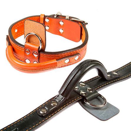 Dogger Ошейник для собак, с ручкой, ширина 3,5 см фото