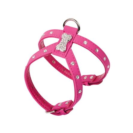 Dezzie Шлейка для собак, шея 15-20 см, грудь 22-27 см, розовая фото