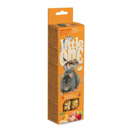 Little One Лакомство для хомяков, крыс, мышей и песчанок (с фруктами и орехами), 120 гр фото