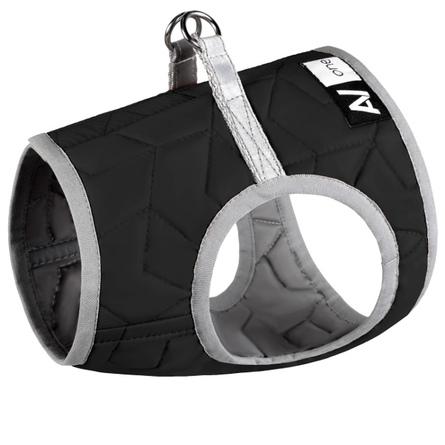 Collar AiryVest One XS4 Мягкая шлейка для собак, чёрная фото