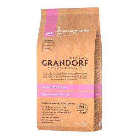Купить Grandorf Lamb & Rice Puppy All Breeds Сухой корм для щенков всех пород (с ягненком и рисом), 12 кг