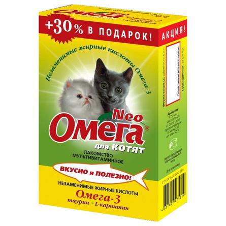 Купить Увеличенная упаковка Омега Neo мультивитаминное лакомство для котят (с протеином и L-карнитином), 78 таблеток
