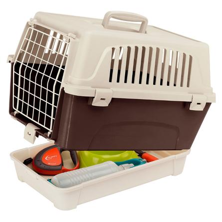 Купить Ferplast Atlas 10 Organizer Переноска с металической дверью для животных, коричневая