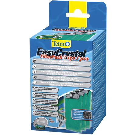 Tetra EasyCristal С 250/300 Губка с активированным углем для внутренних фильтров, 3 шт