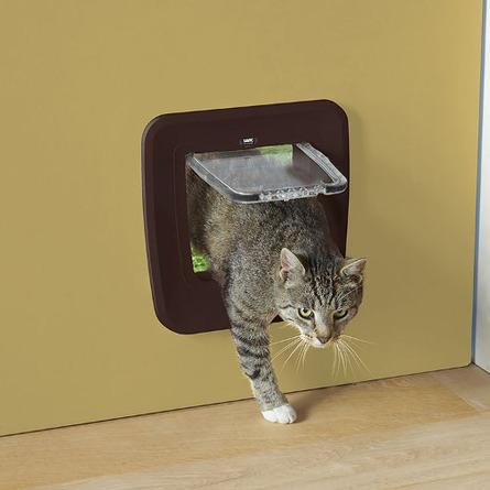 Savic Access 4-Way Upgradable Дверь-створка улучшаемая для кошек 4 положения, коричневая