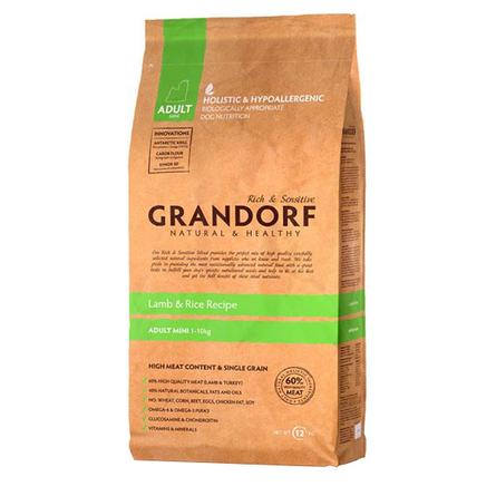 Купить Grandorf Lamb & Rice Adult Mini Сухой корм для взрослых собак мелких пород (с ягненком и рисом), 1 кг