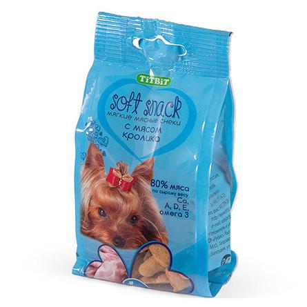 Купить TiTBiT Soft Snack Снек мягкий для взрослых собак всех пород (с мясом кролика), 100 гр