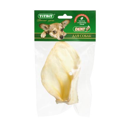 Купить TiTBiT Ухо телячье большое для взрослых собак средних и крупных пород