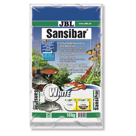 JBL Sansibar WHITE Мелкий белый грунт для пресноводных и морских аквариумов, 10 кг