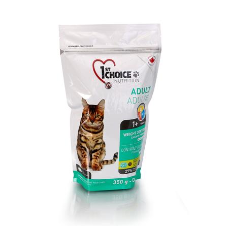 1st Choice Weight Control Контроль Веса сухой корм для кастрированных, стерилизованных кошек (с курицей), 350 гр
