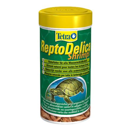 Tetra ReptoMin Delica Shrimps Лакомство для водных черепах, натуральные кусочки, 1 л