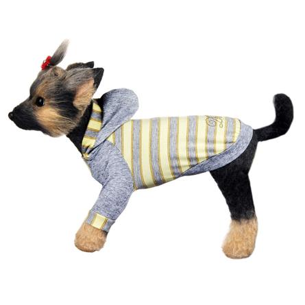 Купить DogModa Футболка Грей для собак, длина спины 24 см, обхват шеи 25, обхват груди 39 см