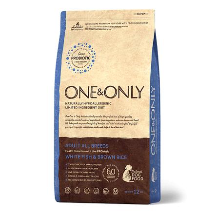 One&Only White Fish&Rice Adult All Breeds сухой корм для взрослых собак всех пород (белая рыба с рисом), 3 кг фото