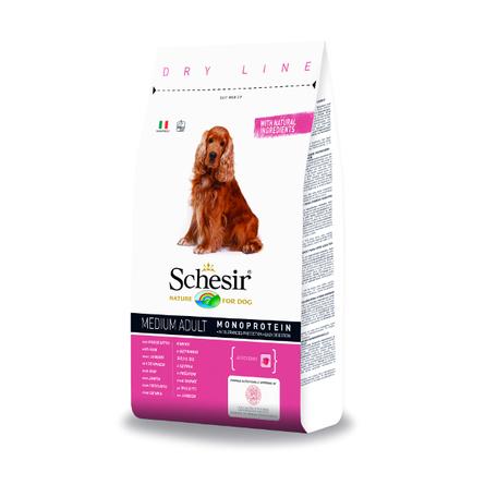 Schesir Dry Line Adult Medium Сухой корм для взрослых собак средних пород (с ветчиной), 3 кг фото