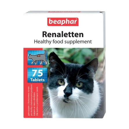 Beaphar Renaletten Кормовая добавка для кошек при заболеваниях почек, 75 таблеток