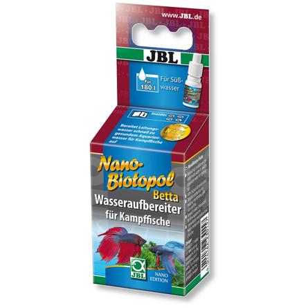 Купить JBL NanoBiotopol Betta препарат для подготовки воды в аквариумах с петушками, 15 мл