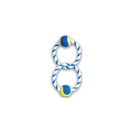 N1 Грейфер игрушка для собак, два кольца с двумя мячами