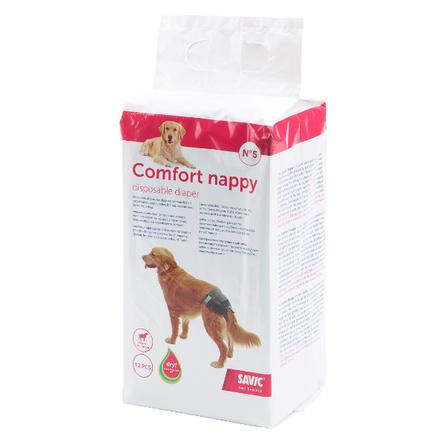 Savic Comfort Nappy Памперсы для собак №5, 12 шт