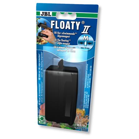 JBL Floaty II M Плавающий магнитный скребок для аквариумных стекол, чёрный