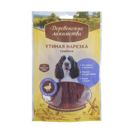 Деревенские Лакомства Утиная нарезка сушеная для взрослых собак всех пород, 100 гр фото
