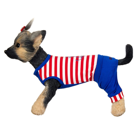 Купить DogModa Комбинезон Круиз для собак, длина спины 28 см, обхват шеи 29 см, обхват груди 45 см