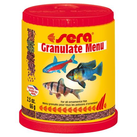 Купить Sera Granulate Menu набор разнообразных гранулированных кормов, 66 гр