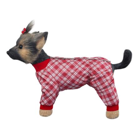 Купить DogModa Комбинезон Клетка для собак, длина спины 24 см, обхват шеи 25 см, обхват груди 39 см, девочка