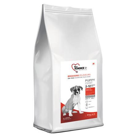 1st Choice Breeders Puppy Sensitive Skin & Coat Сухой корм для щенков всех пород с чувствительной кожей (с ягненком, рыбой и рисом), 20 кг фото