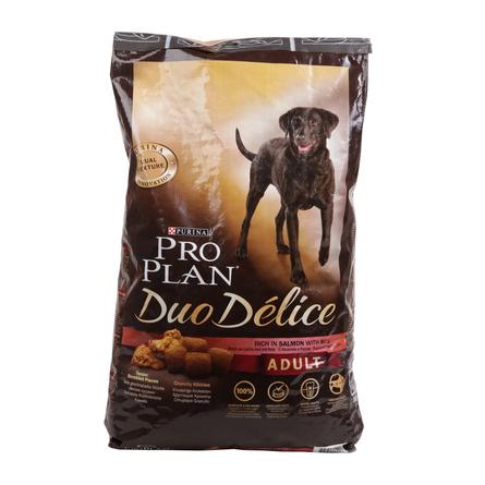 Купить Pro Plan Duo Delice Сухой корм для взрослых собак всех пород (с лососем и рисом), 10 кг