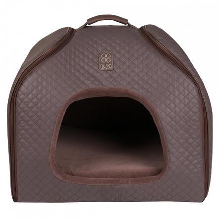Купить Dogmoda Элит Домик-трансформер для кошек и собак, коричневый, велюр