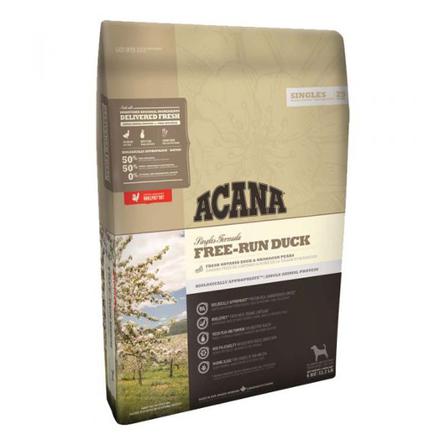 Acana Singles Free Run Duck Сухой корм для собак и щенков всех пород (с уткой и грушей), 2 кг фото